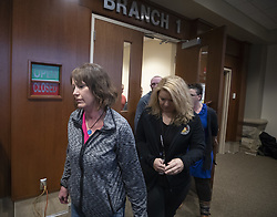 Sue Allard, aunt of Jayme Closs, leaves the court room where Jake T. Patterson, 21, was formally charged with 2 counts of first degree murder and kidnapping of Jayme Closs, 13, at the Barron County Circuit Court Monday, January 14, 2019 in Barron, WI, USA. Photo by Jerry Holt/Minneapolis Star Tribune/TNS/ABACAPRESS.COM