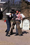 Fistfight before gunfight, reenactment of shootout at OK Corral, Tombstone, Arizona, ©1989 Edward McCain, All Rights Reserved, McCain Photography 520-623-1998