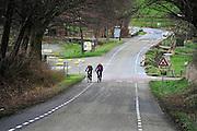 Nederland, Epen, 8-2-2014Het heuvelachtige landschap rond Vaals en Epen.  De limburgse heuvels worden veel gebrukit door wielrenners en andere recreatiev en sportieve fietsers.Foto: Flip Franssen/Hollandse Hoogte