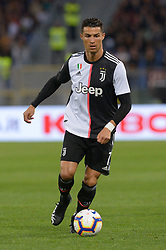 May 12, 2019 - Rome, Italy - Cristiano Ronaldo during the Italian Serie A football match between A.S. Roma and Juventus at the Olympic Stadium in Rome, on may 12, 2019. (Credit Image: © Silvia Lore/NurPhoto via ZUMA Press)