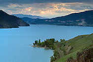Sunset after a brief storm at Kalamalka Lake in Vernon, British Columbia, Canada