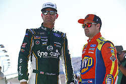 September 14, 2018 - Las Vegas, Nevada, United States of America - Ricky Stenhouse, Jr (17) and Clint Bowyer (14) hang out on pit road before qualifying for the South Point 400 at Las Vegas Motor Speedway in Las Vegas, Nevada. (Credit Image: © Chris Owens Asp Inc/ASP via ZUMA Wire)
