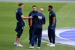 Birmingham City's Sam Gallagher, Birmingham City's Josh Dacres-Cogley,Birmingham City's Isaac Vassell and Birmingham City's David Cotterill