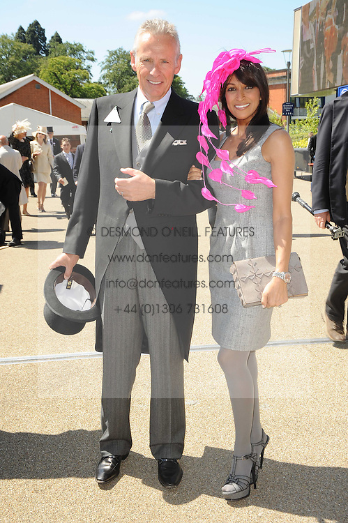 JACKIE ST.CLAIR and her husband CARL MICHAELSON  at the second day of the 2010 Royal Ascot Racing festival at Ascot Racecourse, Berkshire on 16th June 2010.