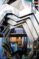 Modern sculpture on the waterfront in Kuching, Sarawak.