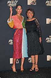 Tracee Ellis Ross, Maxine Waters at the 2017 MTV Movie And TV Awards Press Room held at The Shrine Auditorium on May 7, 2017 in Los Angeles, California.<br /><br />(Photo by Sthanlee Mirador) *** Please Use Credit from Credit Field ***