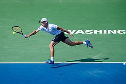 August 5, 2018 - Washington D.C, DC, U.S. - WASHINGTON D.C., DC - AUGUST 05: ALEX DE MINAUR (AUS) during day seven match of the 2018 Citi Open on August 05, 2018 at Rock Creek Park Tennis Center in Washington D.C. (Photo by Chaz Niell/Icon Sportswire) (Credit Image: © Chaz Niell/Icon SMI via ZUMA Press)