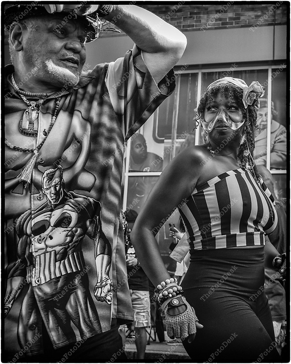 NEWARK, NEW JERSEY: Dancing during the weekly Block Party on Edison Plaice in Newark, NJ on Friday, July 30, 2021 (Brian B Price/TheFotodesk).T