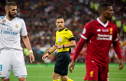 Referee Milorad Mazic during the UEFA Champions League final football match between Liverpool and Real Madrid at the Olympic Stadium in Kiev, Ukraine on May 26, 2018.Photo by Sandi Fiser / Sportida