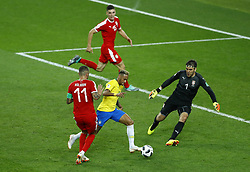 June 27, 2018 - Moscow, Russia - Group E Serbia v Brazil - FIFA World Cup Russia 2018.Neymar (Brazil) in action at Spartak Stadium in Moscow, Russia on June 27, 2018. (Credit Image: © Matteo Ciambelli/NurPhoto via ZUMA Press)