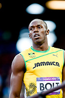 LONDON OLYMPIC GAMES 2012 - OLYMPIC STADIUM , LONDON (ENG) - 05/08/2012 - PHOTO : POOL / KMSP / DPPI<br /> ATHLETICS - MEN 100M - USAIN BOLT (JAM)