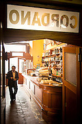 Bar scene inside Bar Cordano, Lima