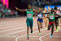 Caster Semenya of South Africa celebrates her first place finish - Mandatory byline: Patrick Khachfe/JMP - 07966 386802 - 13/08/2017 - ATHLETICS - London Stadium - London, England - Women's 800m Final - IAAF World Championships