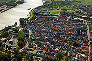Nederland, Zuid-Holland, Schoonhoven, 23-05-2011; .Stad Schoonhoven aan de rivier de Lek. Village Schoonhoven on the river Lek. luchtfoto (toeslag), aerial photo (additional fee required).copyright foto/photo Siebe Swart