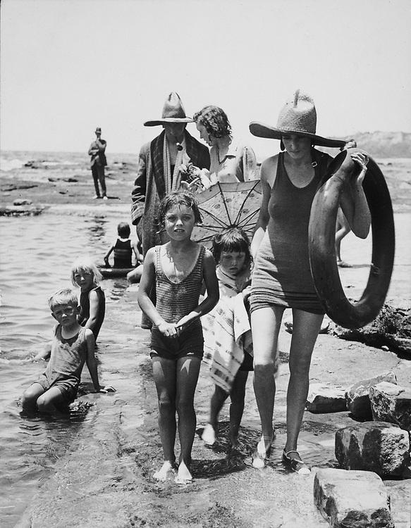 Mr. A. Wilson, Publisher, and Family at Collaroy Beach,  Sydney, Australia, 1930