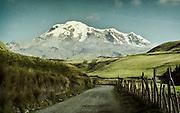 Chimborazo mountain in Ecuador.