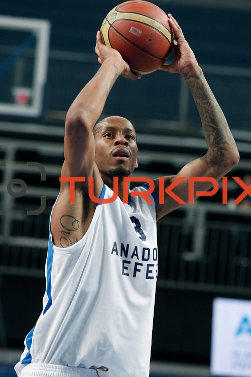 Anadolu Efes's Terence Kinsey during their Turkish Basketball League match Anadolu Efes between Turk Telekom at Arena in Istanbul, Turkey, Wednesday, January 04, 2012. Photo by TURKPIX