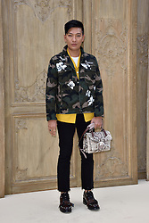 Guest attending at the Valentino show as a part of Paris Fashion Week Ready to Wear Spring/Summer 2017 on October 02, 2016 in Paris, France. Photo by Alban Wyters/ABACAPRESS.COM