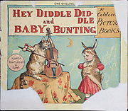 Front cover of from the book  ' Hey diddle diddle and Baby bunting ' by Randolph Caldecott, Published in London by George Routledge & Sons in 1882