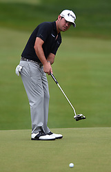 June 24, 2018 - Cromwell, CT, USA - Brian Harman putts on the 15th green during the final round of the Travelers Championship at TPC River Highlands in Cromwell, Conn., on Sunday, June 24, 2018. (Credit Image: © Brad Horrigan/TNS via ZUMA Wire)