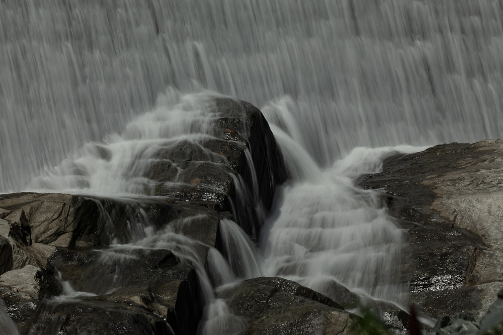 The cascades along the Ottocuechee Dam in Vermont.