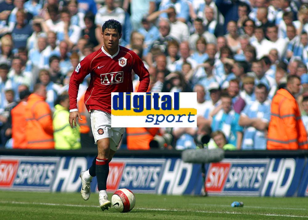 Photo: Paul Thomas.<br /> Manchester City v Manchester United. The Barclays Premiership. 05/05/2007.<br /> <br /> Goal scorer Cristiano Ronaldo of Utd.