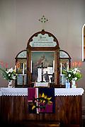 Santa Maria de Jetiba_ES, Brasil...Detalhe do interior da Igreja Luterana em Santa Maria de Jetiba...Inside of the Lutheran Church in Santa Maria de Jetiba...Foto: LEO DRUMOND / NITRO