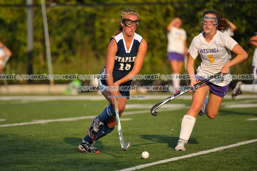 Staples High School Field Hockey..Staples defeats Stamford West Hill 6-1..Emily Ashken (SR)(C)