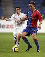 Fotball<br /> UEFA Cup<br /> Foto: imago/Digitalsport<br /> NORWAY ONLY<br /> <br /> 20.10.2005  <br /> <br /> Guillaume Lacour (Strasbourg, li.) gegen Reto Zanni (Basel)