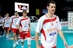 12-02-2012 VOLLEYBAL: BEKERFINALE EUPHONY ASSE LENNIK - NOLIKO MAASEIK: ANTWERPEN<br /> Noliko Maaseik wint vrij eenvoudig de beker van Belgie. In de finale waren zij met 25-21 25-18 en 25-19 te sterk voor Asse Lennik / Bert Sturkenboom<br /> ©2012-FotoHoogendoorn.nl