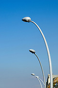 lamp posts on blue sky