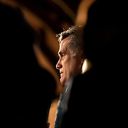 Gov. Mitt Romney, addresses a crowd at his rally at Winthrop University during his 2012 presidential primary campaign.
