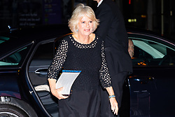 Her Royal Highness Camilla the Duchess of Cornwall arrives at the Man Booker Prize dinner at the Guildhall in London. Guildhall, London, October 16 2018.