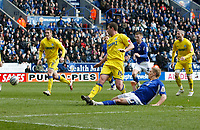 Photo: Steve Bond/Richard Lane Photography. Leicester City v Cardiff City. Coca Cola Championship. 13/03/2010. Martyn Waghorn watches his shot hit the back of the net for the winning goal