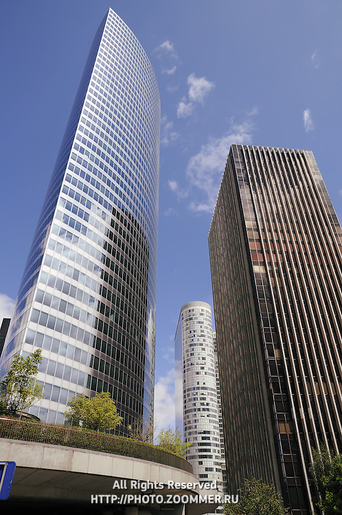 Defense business district buildings in Paris, France (vertical)