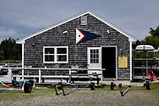 The Southport Yacht Club at Cozy Harbor in Southport, Boothbay Harbor, Maine.