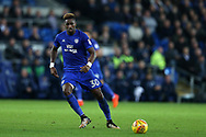 Omar Bogle of Cardiff city. EFL Skybet championship match, Cardiff city v Ipswich Town at the Cardiff city stadium in Cardiff, South Wales on Tuesday 31st October 2017.<br /> pic by Andrew Orchard, Andrew Orchard sports photography.