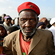 BOIPATHONG- 160617 - 89 year old EFF supporter John Mokatjo during an EFF (economic freedom fighters) Youth Day rally in Boiphatong township near Vereeniging.(Frank Trimbos/Gallo Images)