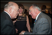 JULIAN FELLOWES; EMEXA JAGO; DUKE OF RUTLAND, The hon Alexandra Foley hosts drinks to introduce ' Lady Foley Grand Tour' with special guest Julian Fellowes. the Sloane Club. Lower Sloane st. London. 14 May 2014
