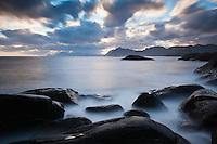 Dramatic coastal scenery, Lofoten Islands, Norway