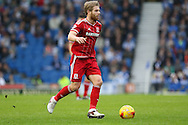 Middlesbrough FC midfielder Adam Clayton during the Sky Bet Championship match between Brighton and Hove Albion and Middlesbrough at the American Express Community Stadium, Brighton and Hove, England on 19 December 2015. Photo by Phil Duncan.