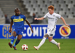 Cape Town-181002- Cape Town City defender Kwanda Mngonyama challenges  Simon Murray  of Bidvest Wits in a PSL clash at Cape Town Stadium.Cape town City come to this game with high confidence after winning the MTN 8 cup over the weekend,while Wits will be fighting for the the top spot they have lost after some poor display in their last two games.Photographs:Phando Jikelo/African News Agency/ANA