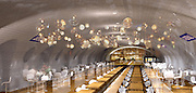 Bringing Paris' ghost stations to life: Swimming pools, bars and even an underground garden centre among subterranean ideas for French capital's disused Metro stops<br /> <br /> Below Paris' streets, 133 miles of track form one of Europe's biggest underground Metro systems. But hidden among them are 16 ghost stations that have been abandoned for decades and nearly forgotten.<br /> Some of the 'fantome stations' were left vacant after the Nazi occupation and others have never been opened to the public. However, new plans could see them being redesigned as swimming pools, night clubs and restaurants. <br /> While vacant London Tube stations are being turned into hydroponic farms, their French counterparts are being made into thriving social spaces.<br /> The redevelopment was proposed by Paris' mayoral candidate Nathalie Kosciusko-Morizet. She commissioned the collection of illustrations, drawn up by two architects, which show what Arsenal station may look like after a sprucing up. <br /> Kosciusko-Morizet said the designs were just 'examples of the field of possibilities' and, if elected, she will ask Parisians to decide how best to fill the empty platforms<br /> ©Manal Rachdi oxo/ Nicolas Laisne architecte/Exclusivepix