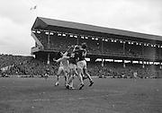 GAA All Ireland Minor Football Final Sligo v. Cork 22nd September 1968 Croke Park..M. Doherty (no.14) Cork full forward gets the ball in a scuffle with J. Brennan (no.3) Sligo full back ..22.9.1968  22nd September 1968