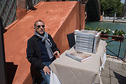 Y.Z. KAMI Book signing for Y.Z. Kami, , Bar Foscarini hosted by Gagosian, Opening of the Venice Biennale, Venice, 9 May 2019