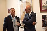 MICHAEL HOPPEN; DYLAN JONES, , Opening of Photo London, 2018. Somerset House. London. 16 May 2018