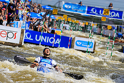 Prindis Vit (CZE) competes in Finals during Day 2 of 2018 ECA Canoe Slalom European Championships, on June 2nd, 2018 in Troja , Prague, Czech Republic. Photo by Grega Valancic / Sportida