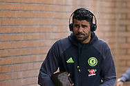 Diego Costa of Chelsea arrives at the stadium. Premier league match, Burnley v Chelsea at Turf Moor in Burnley, Lancs on Sunday 12th February 2017.<br /> pic by Chris Stading, Andrew Orchard Sports Photography.