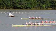Chungju, South Korea.  Final Women's Quadruple Scull. 2013 FISA World Rowing Championships, Tangeum Lake International Regatta Course.16:26:22  Saturday  31/08/2013 [Mandatory Credit. Peter Spurrier/Intersport Images]<br /> <br /> 1GER W4X, Annekatrin THIELE (b) , Carina BAER (2) , Julia RICHTER (3) , Britta OPPELT (s)<br /> <br /> 2CAN W4X,Emily CAMERON (b) , Katharine GOODFELLOW (2) , Carling ZEEMAN (3) , Antje VON SEYDLITZ-KURZBACH (s)<br /> <br /> 3POLW4X Sylwia LEWANDOWSKA (b) , Joanna LESZCZYNSKA (2) , Magdalena FULARCZYK (3) , Natalia MADAJ <br /> <br /> 4NEDW4X Lisa SCHEENAARD (b) , Chantal ACHTERBERG (2) , Sophie SOUWER (3) , Nicole BEUKERS <br /> <br /> 5USAW4X Kara KOHLER (b) , Zsuzsanna FRANCIA (2) , Esther LOFGREN (3) , Megan KALMOE<br /> <br /> 6ITA W4X. Sara MAGNAGHI (b) , Giada COLOMBO (2) , Laura SCHIAVONE (3) , Gaia PALMA.