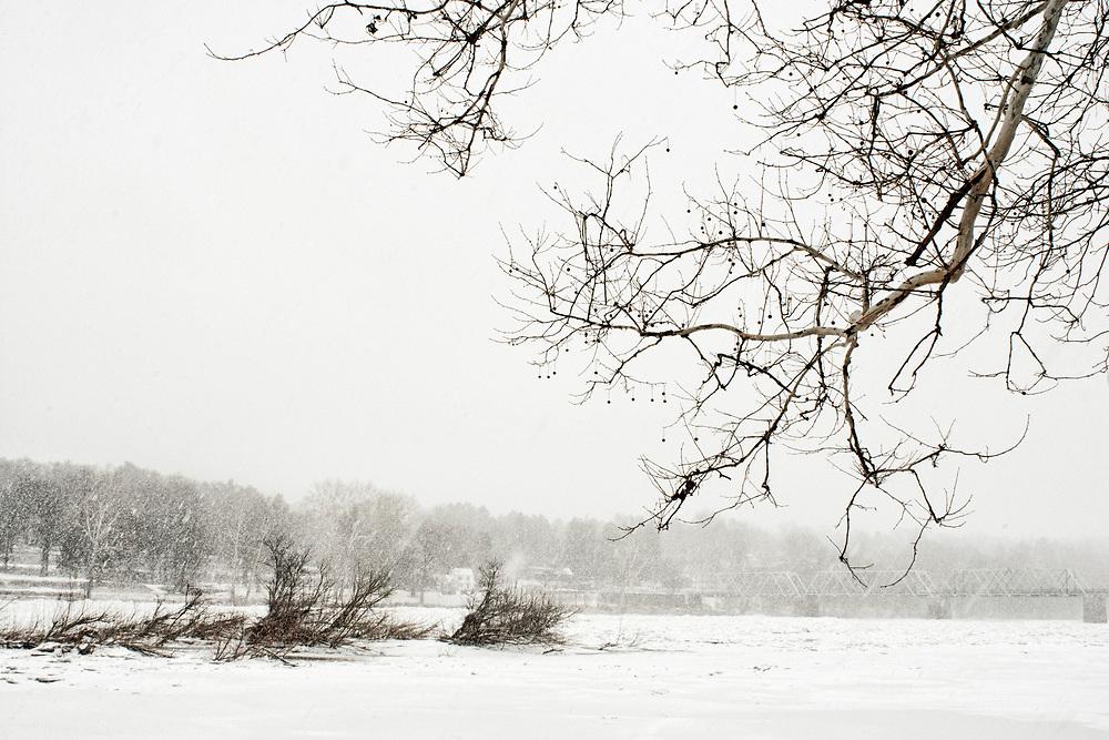 Snowstorm, Delaware River